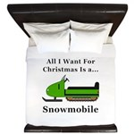 Christmas Snowmobile King Duvet