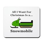 Christmas Snowmobile Mousepad