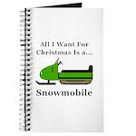 Christmas Snowmobile Journal