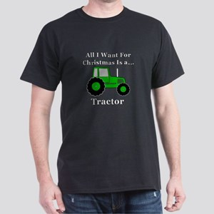 Christmas Tractor Dark T-Shirt