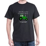 Christmas Tractor Dark T-Shirt