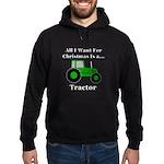 Christmas Tractor Hoodie (dark)