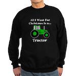 Christmas Tractor Sweatshirt (dark)