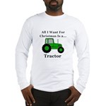 Christmas Tractor Long Sleeve T-Shirt
