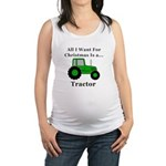 Christmas Tractor Maternity Tank Top