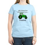 Christmas Tractor Women's Light T-Shirt