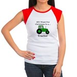 Christmas Tractor Junior's Cap Sleeve T-Shirt