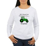 Christmas Tractor Women's Long Sleeve T-Shirt