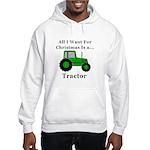 Christmas Tractor Hooded Sweatshirt