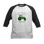 Christmas Tractor Kids Baseball Jersey