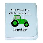 Christmas Tractor baby blanket