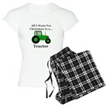 Christmas Tractor Women's Light Pajamas