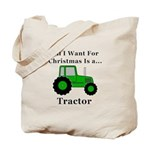 Christmas Tractor Tote Bag