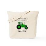 Christmas Tractor Tote Bag