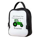 Christmas Tractor Neoprene Lunch Bag