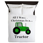 Christmas Tractor Queen Duvet