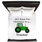 Christmas Tractor King Duvet