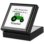 Christmas Tractor Keepsake Box