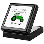 Christmas Tractor Keepsake Box