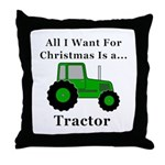 Christmas Tractor Throw Pillow