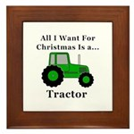 Christmas Tractor Framed Tile