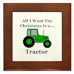 Christmas Tractor Framed Tile