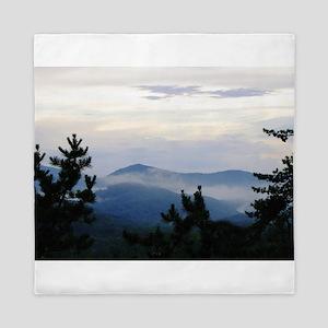 Smoky Mountain Morning Queen Duvet