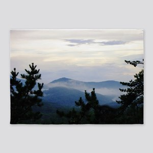 Smoky Mountain Morning 5'x7'Area Rug