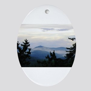 Smoky Mountain Morning Oval Ornament