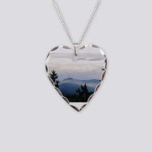 Smoky Mountain Morning Necklace Heart Charm