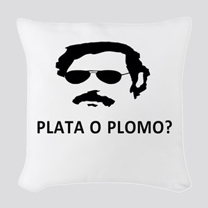 Plata O Plomo Woven Throw Pillow