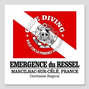 "Emergence du Ressel Square Car Magnet 3"" x 3"""