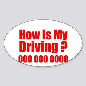 How is My Driving Sticker