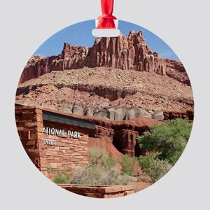 Capitol Reef National Park Visitor Round Ornament