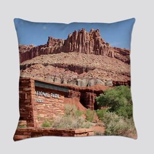 Capitol Reef National Park Visitor Everyday Pillow