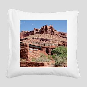Capitol Reef National Park Vi Square Canvas Pillow