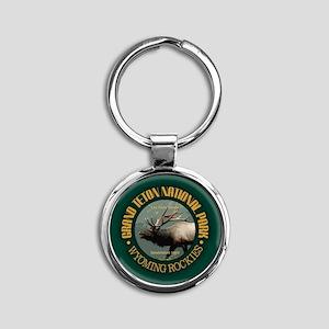 Grand Teton NP (elk) Keychains