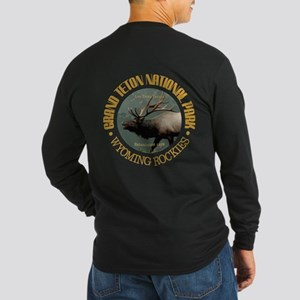 Grand Teton Np (elk) Long Sleeve T-Shirt