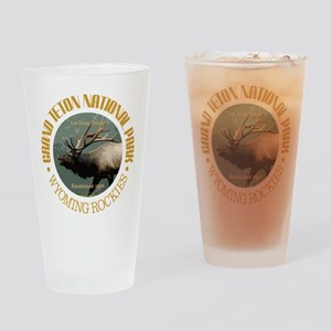 Grand Teton NP (elk) Drinking Glass