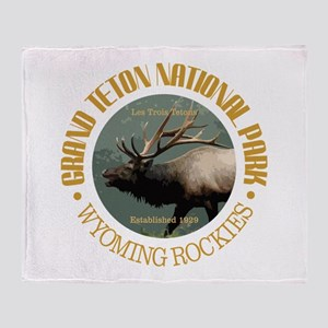 Grand Teton NP (elk) Throw Blanket