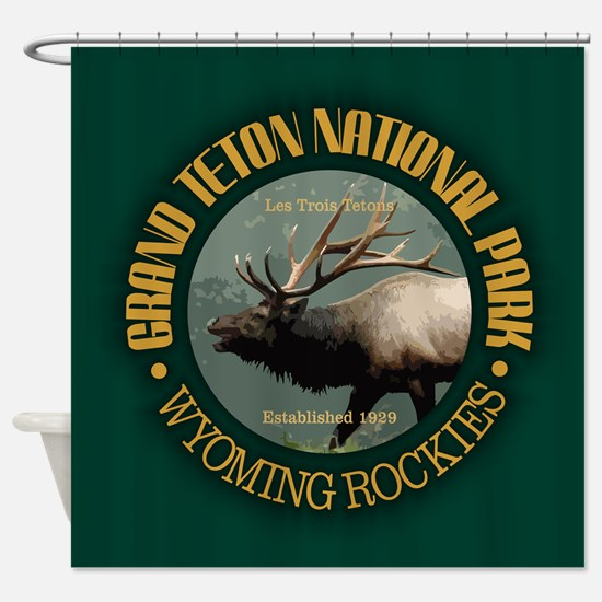 Grand Teton NP (elk) Shower Curtain