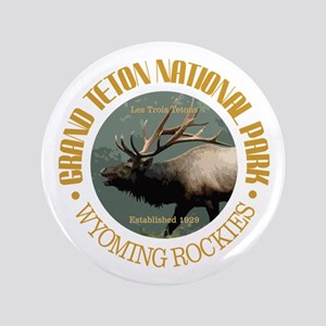 "Grand Teton NP (elk) 3.5"" Button"