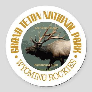 Grand Teton NP (elk) Round Car Magnet
