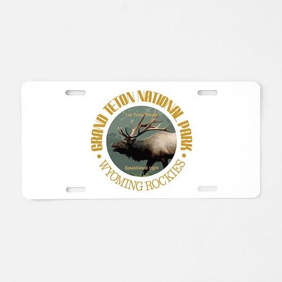 Grand Teton NP (elk) Aluminum License Plate