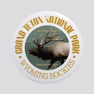 Grand Teton NP (elk) Ornament (Round)