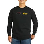 I Love Snowmobiles Long Sleeve Dark T-Shirt