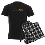 I Love Snowmobiles Men's Dark Pajamas