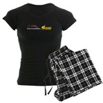 I Love Snowmobiles Women's Dark Pajamas