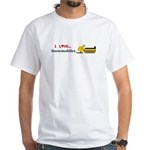 I Love Snowmobiles White T-Shirt
