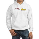 I Love Snowmobiles Hooded Sweatshirt